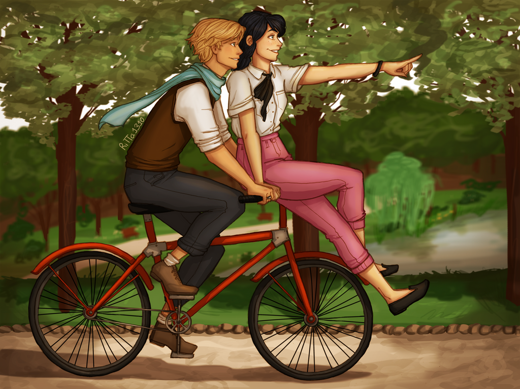 Adrien and Marinette by RiTTa1310