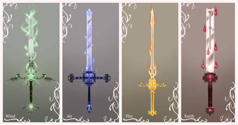 Elemental Swords by SancaA