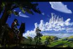 Castle in the sky by SancaA