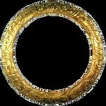 Round Gold Antique Frame