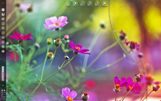 Minimalistic girly desktop :)