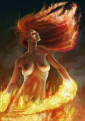 Dance of the fire by vakulya