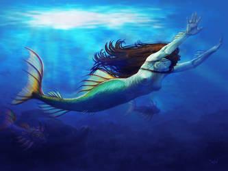 Not so little mermaid by vakulya