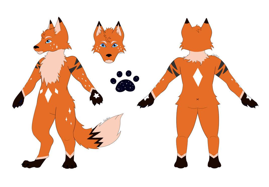 Commission- Fox Fursona Design
