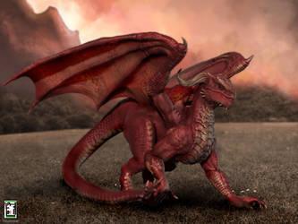Red-dragon by AhmedAlnaqbi