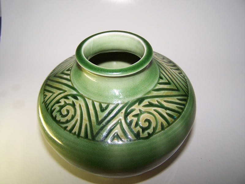 Carved Celadon Vase7 by RenaissanceMan1