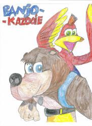 Banjo-Kazooie 'colored' by baul104
