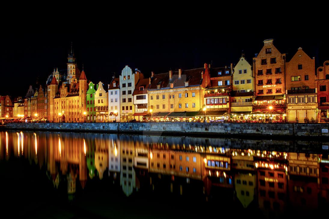 Gdansk, Motlawa River (Poland) 2 by KrzysztofSmejlis
