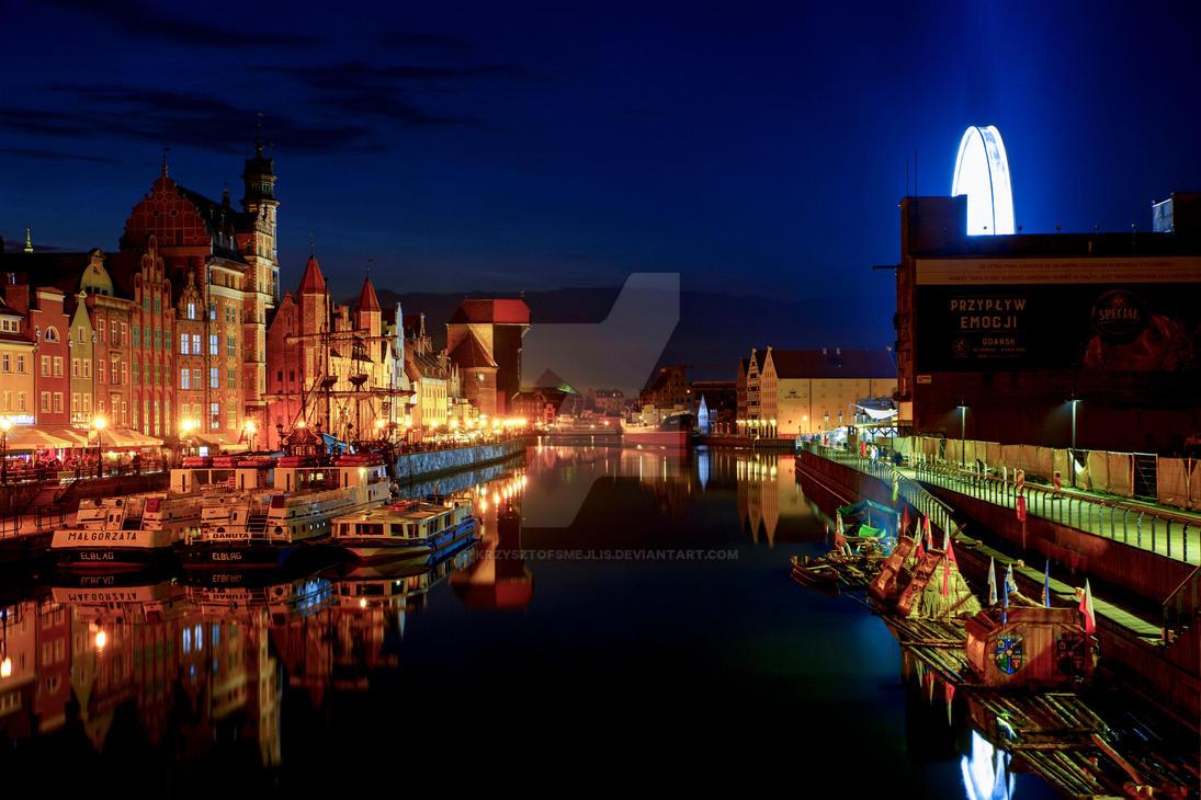 Gdansk, Motlawa River (Poland) 3 by KrzysztofSmejlis