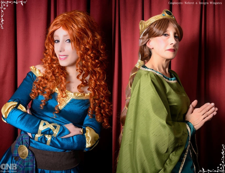 Merida and the Queen Elinor by Neferet-Cosplay