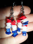 4th of July Earrings by SwiggyAkane