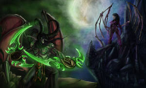 Heroes of the storm- Illidan vs Kerrigan by aaalleexx