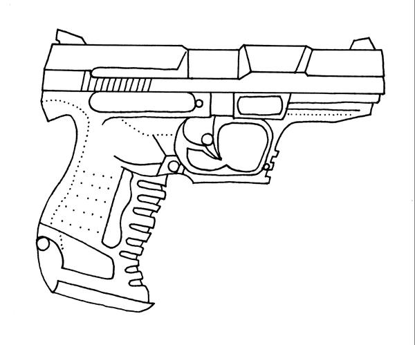 glock 17 drawings pictures to pin on pinterest