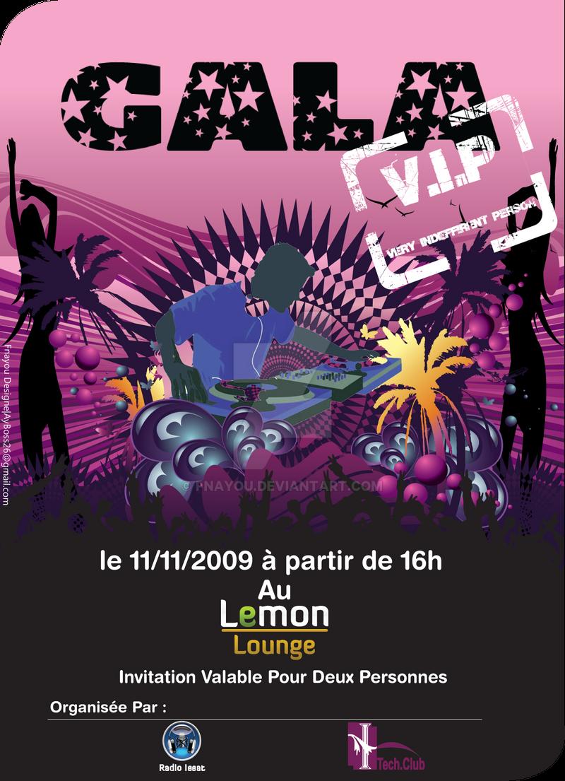 Invitation Gala ISSAT by Fnayou