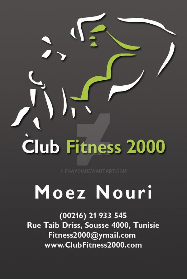 Club Fitness 2000 Carte Visite by Fnayou