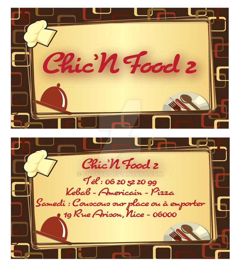 Chic'n'Food Carte Visite 4 by Fnayou