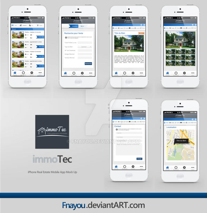 immoTec - iPhone Real Estate App ShowCase by Fnayou