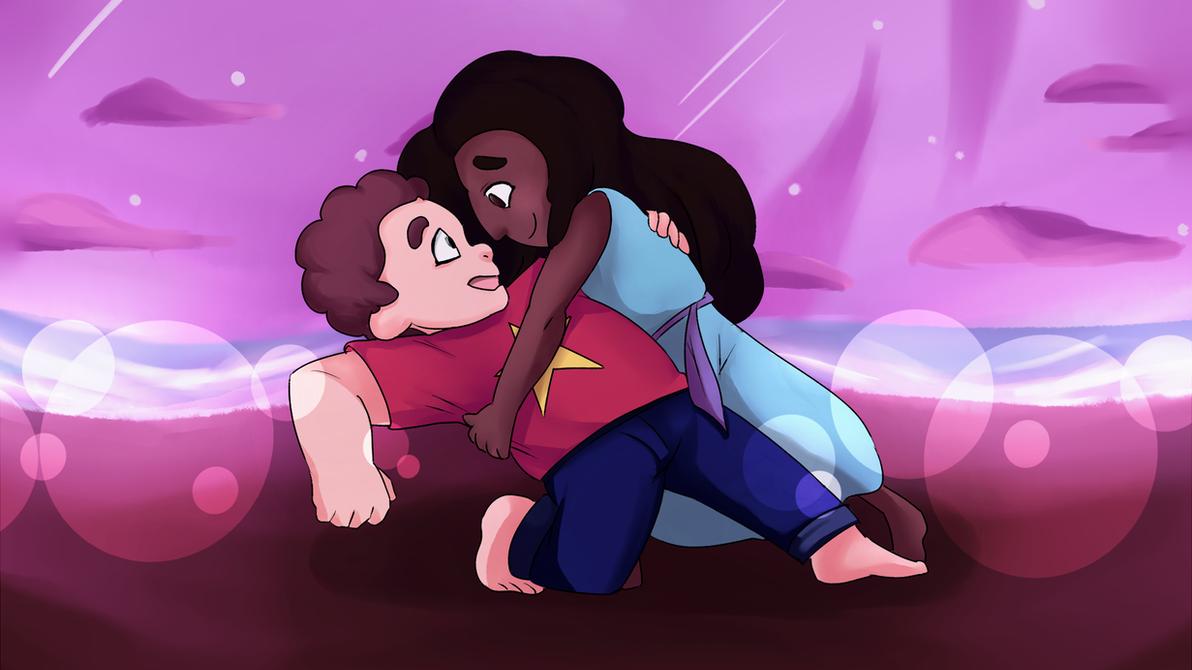 [screencap redraw] Connie + Steven by hella-K