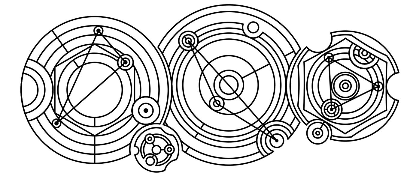Random circular gallifreyan by adriens33