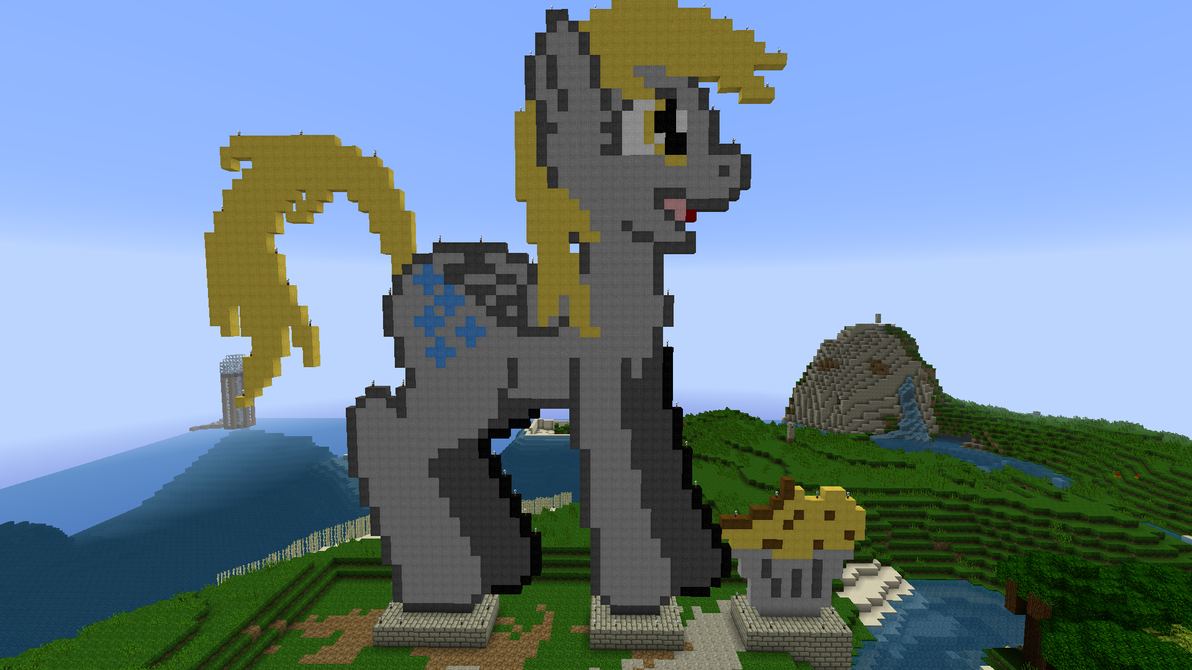 Derpy Hooves Pixel art in Minecraft by adriens33