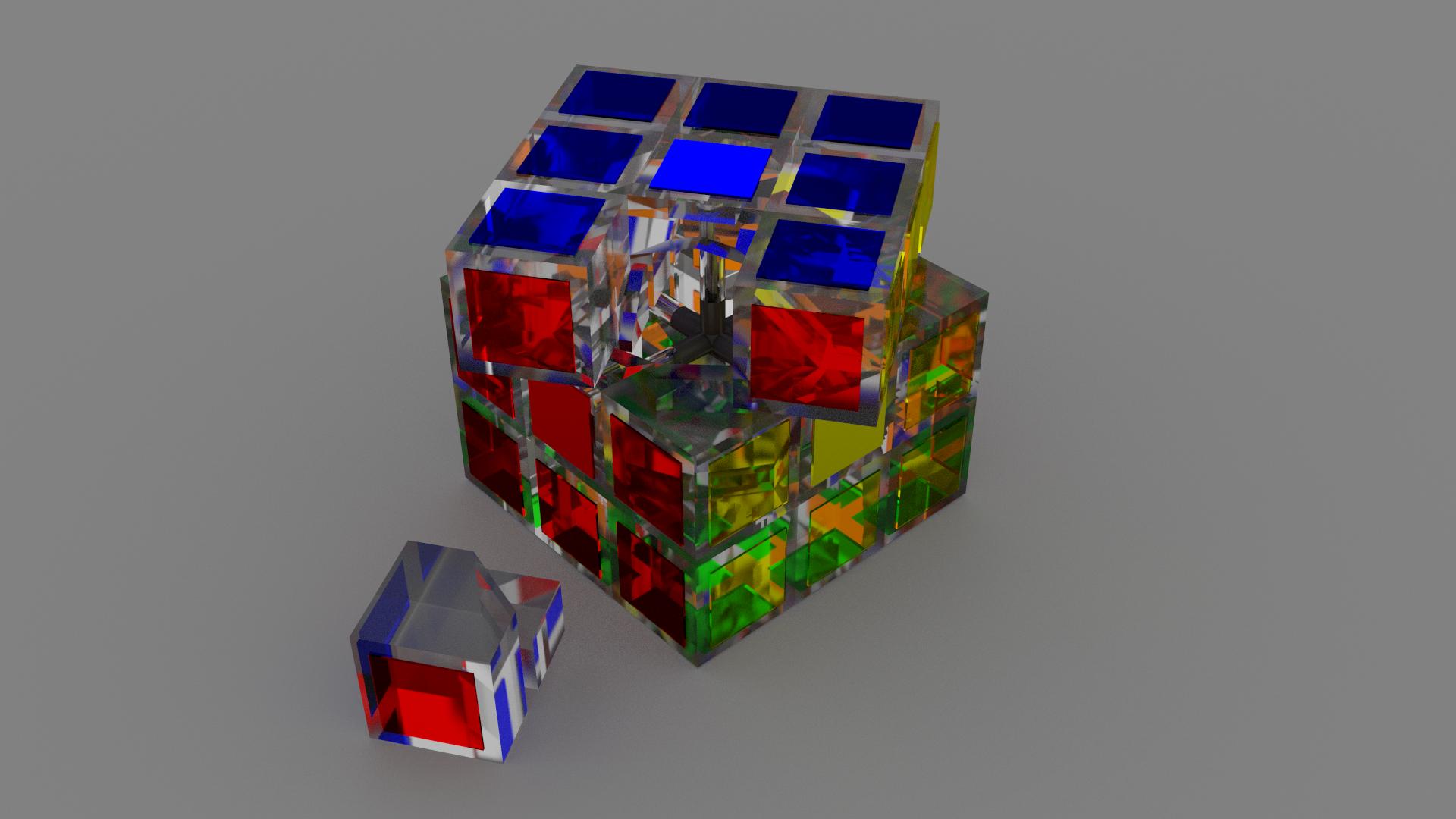 Full Glass Rubik's Cube by adriens33