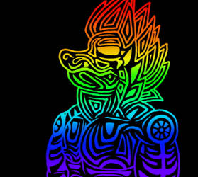 Rainbow and tribal thing