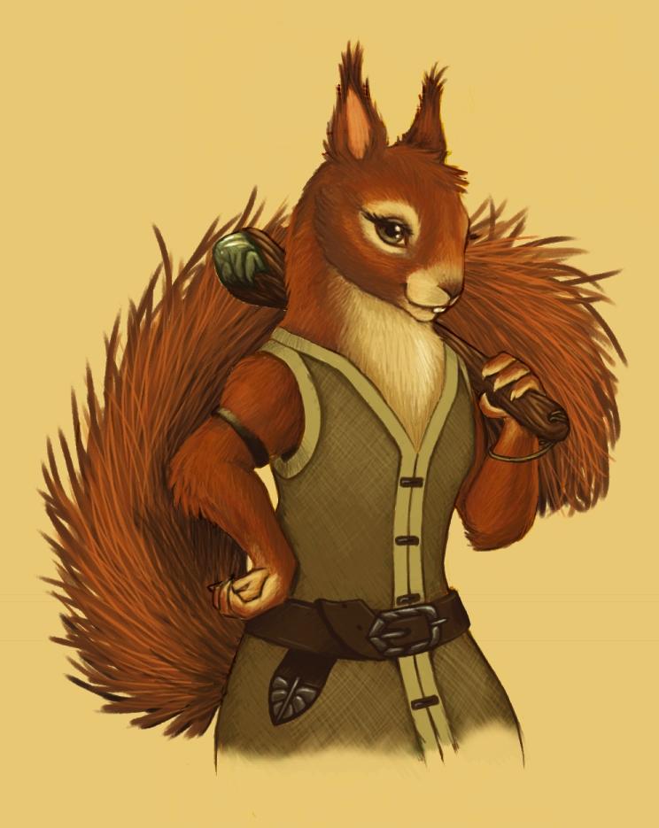 Redwall Squirrel by Skyelar