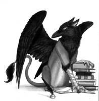 Literary...gryphon? by Skyelar
