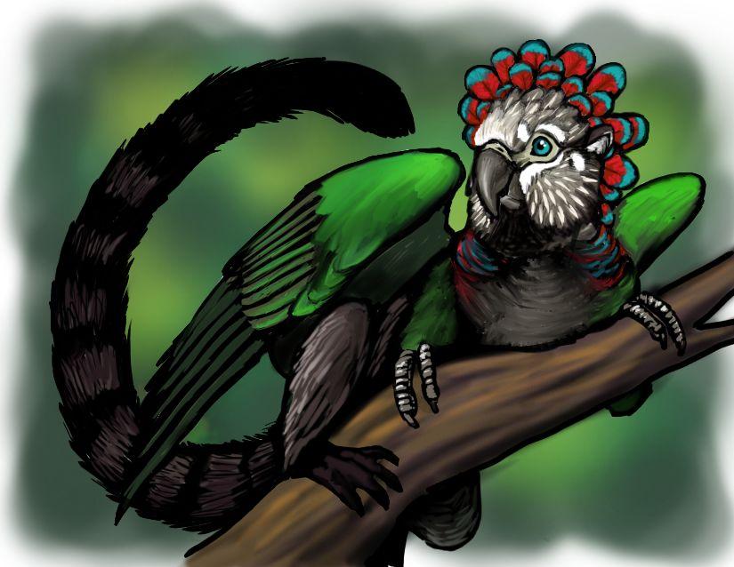 Fan Parrot Gryphon upload by Skyelar