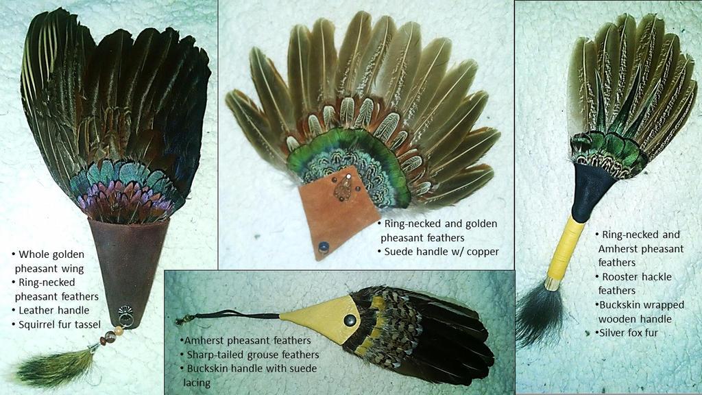 Ritual Feather Fans, Set 1 by Skyelar