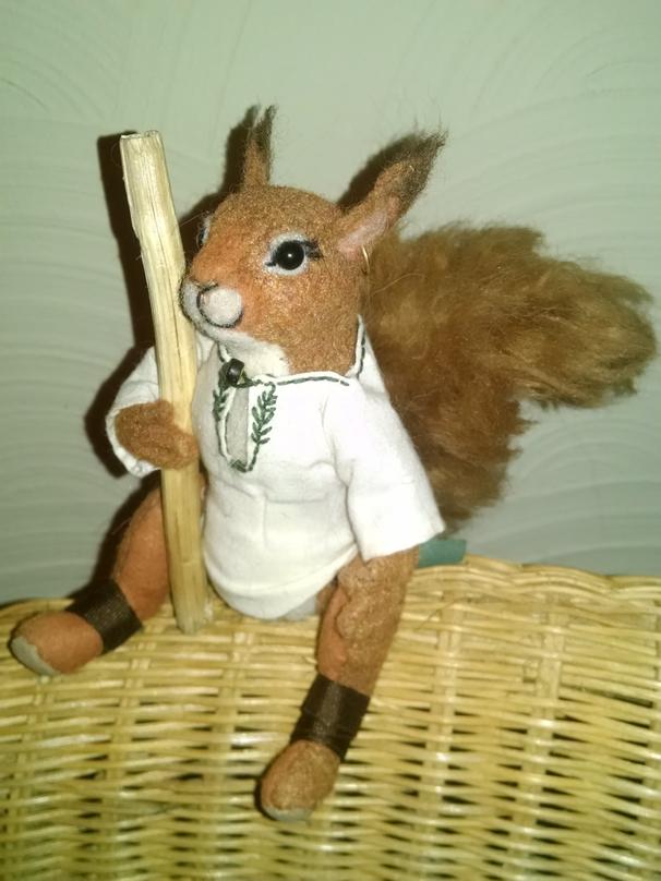 Redwall Squirrel Plush Figure by Skyelar