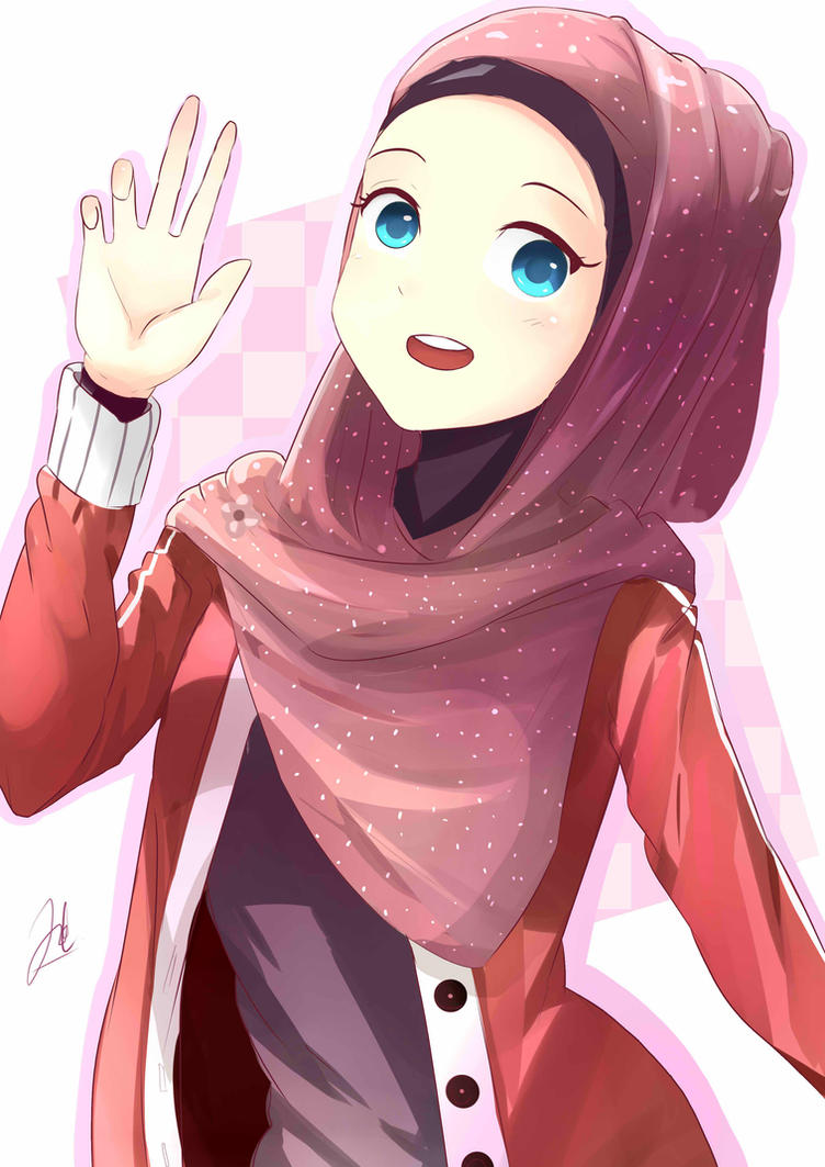 Red Hijab By Saikojay On Deviantart Fanart Anime