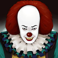 Pennywise Tim Curry by SaikoJay