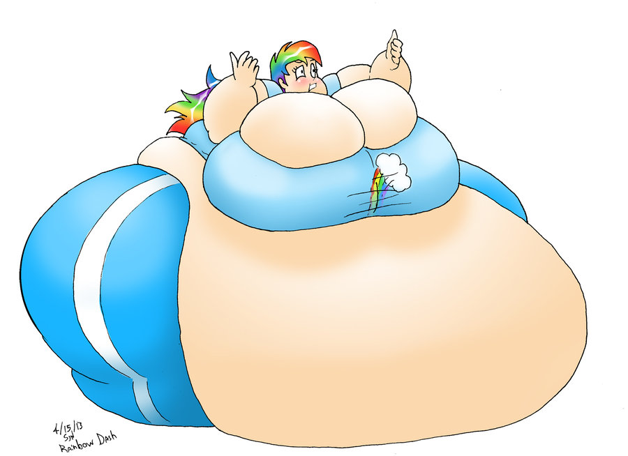 Rainbow Dash Inflation By Misse-official On DeviantArt