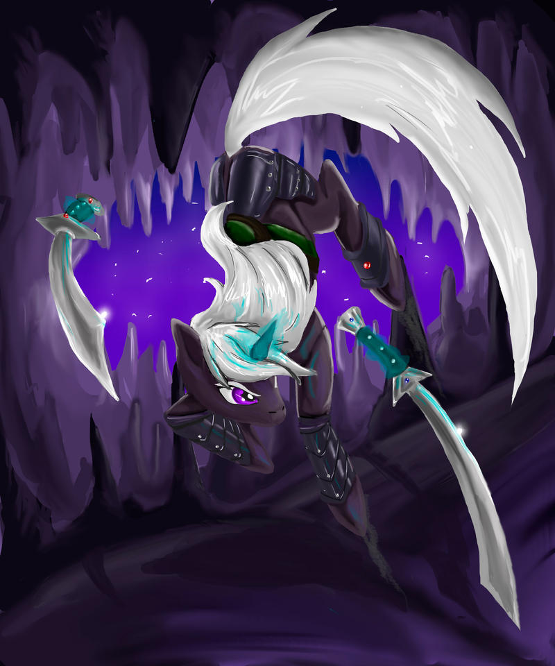 Drizzt Do'Urden (pony) by DrizztHunter