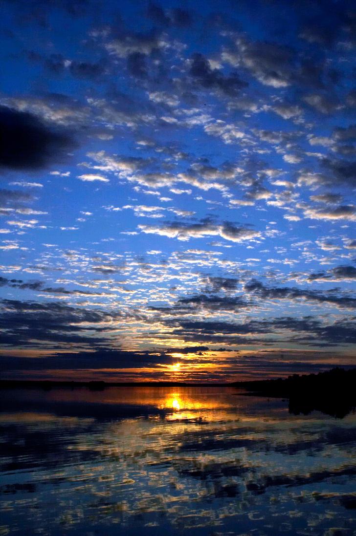 Sunset at Kiviranta by rozer