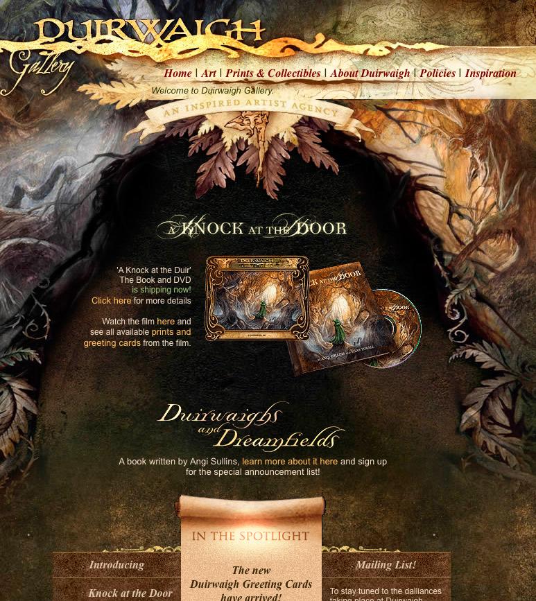 Duirwaigh web site 2003 by DuirwaighStudios