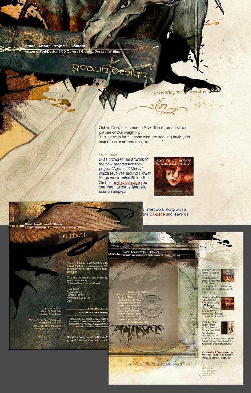 GoblinDesign - web design 2005 by DuirwaighStudios