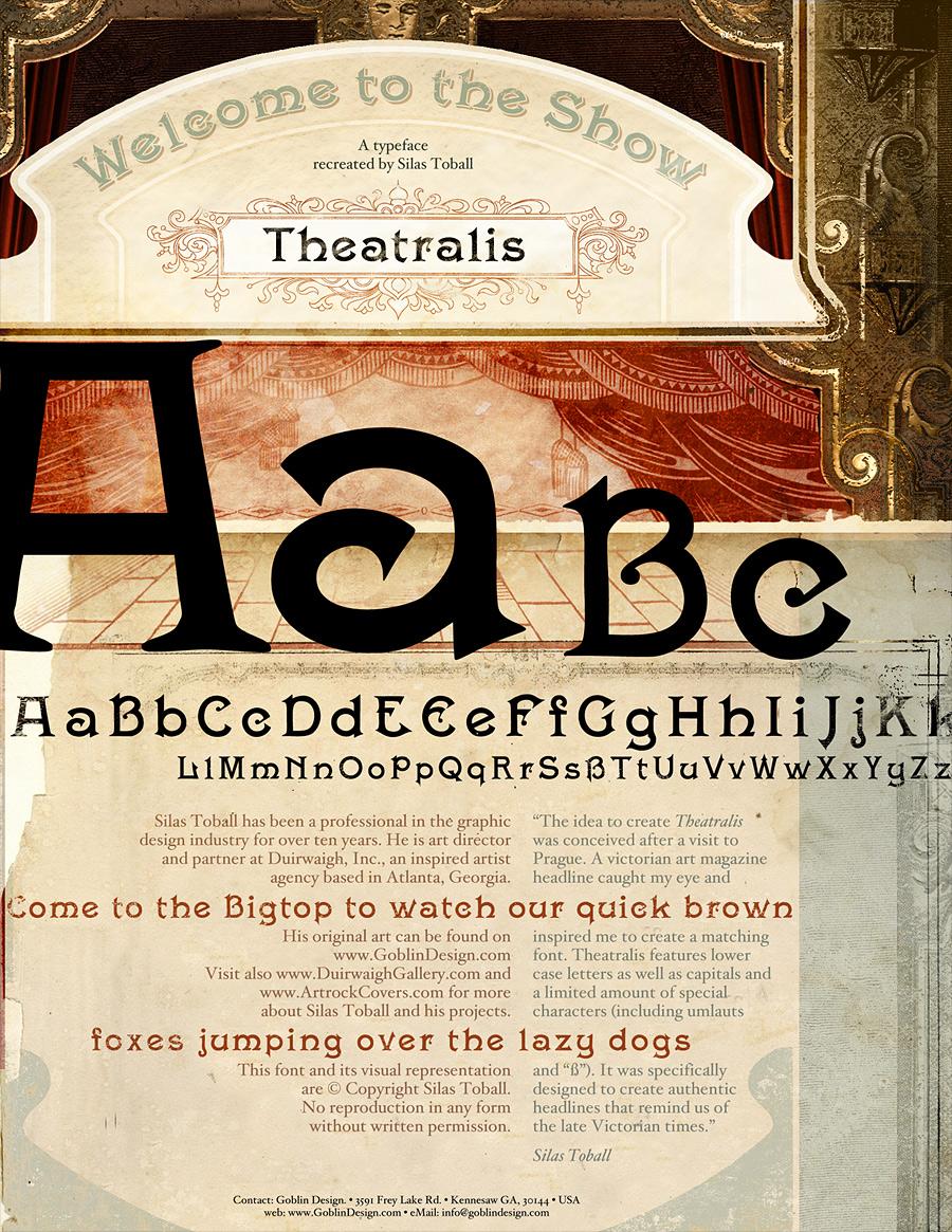 Theatralis - Typeface Design by DuirwaighStudios