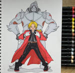 Edward and Alphonse Elric by Bigmacscribbles