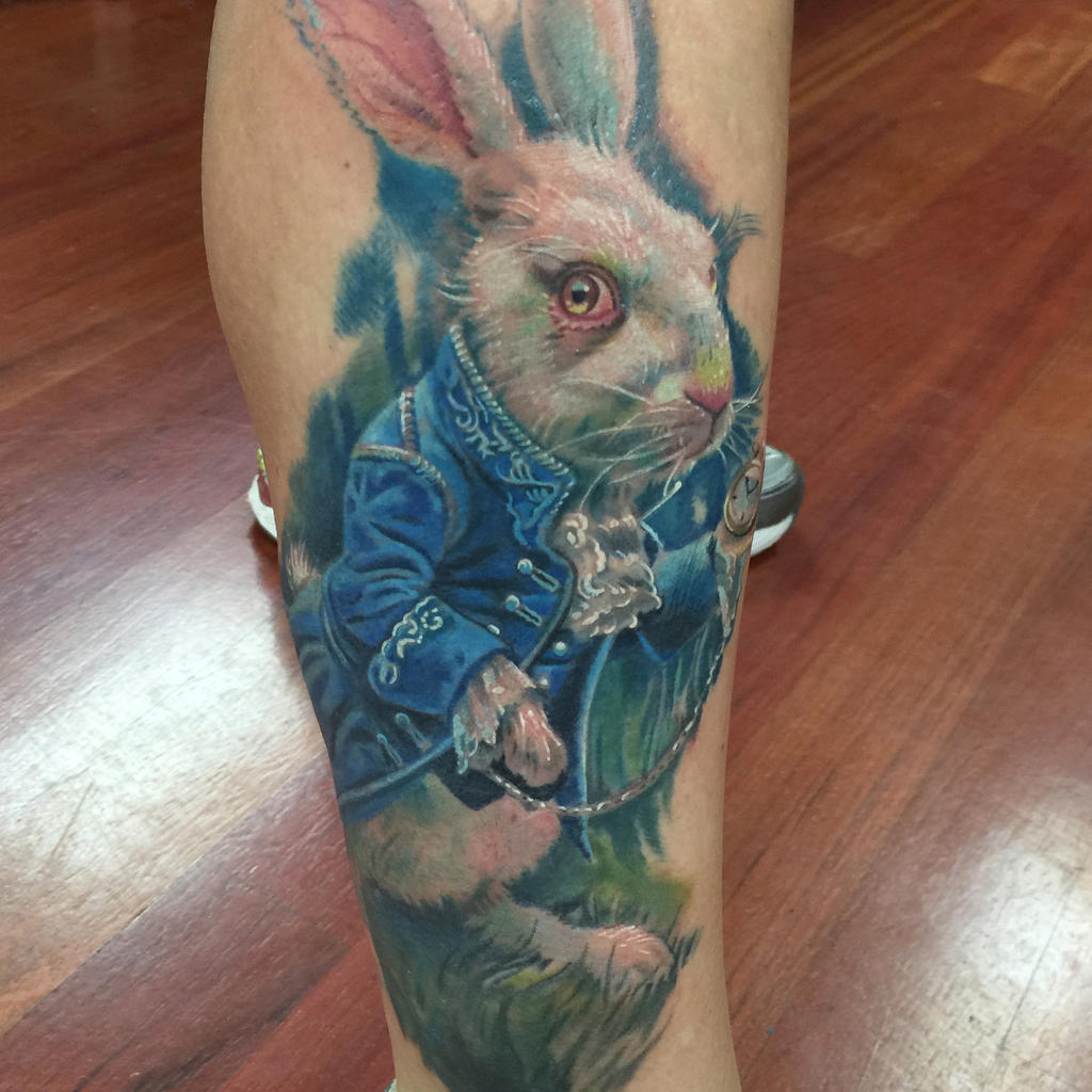 White Rabbit Tattoo by Pony Lawson by PonyLawson on DeviantArt