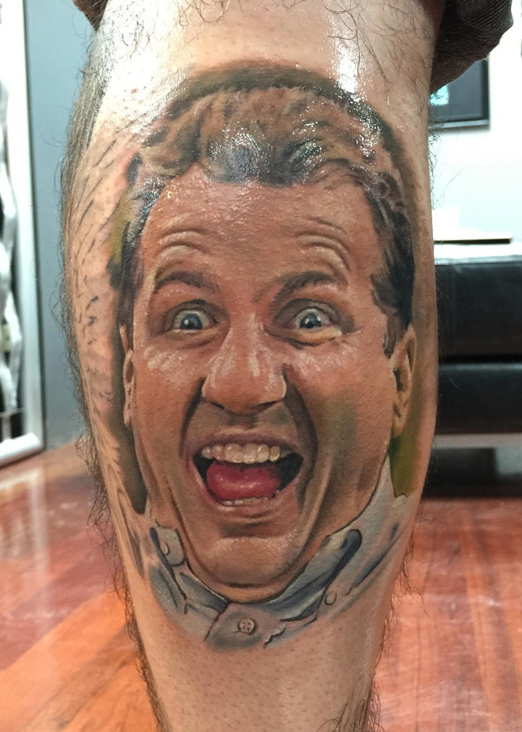 Al bundy tattoo by pony lawson by ponylawson on deviantart for Best tattoo artist in alabama