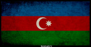 Grunge Azerbaijan Flag