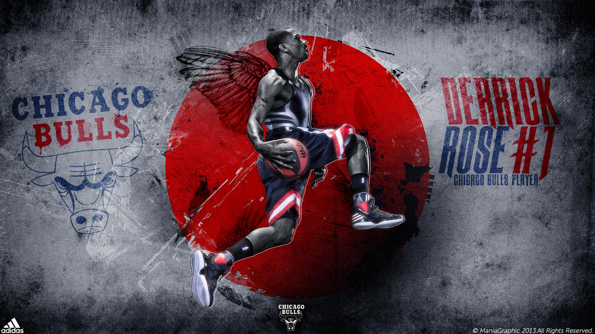 Derrick rose wallpaper by maniagraphic on deviantart derrick rose wallpaper by maniagraphic voltagebd Image collections