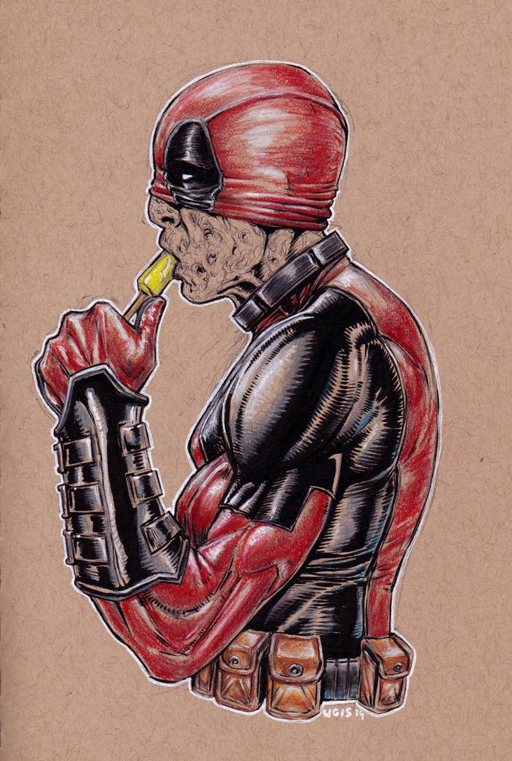 Deadpool VS. Popsicle by GeorgeLiquor