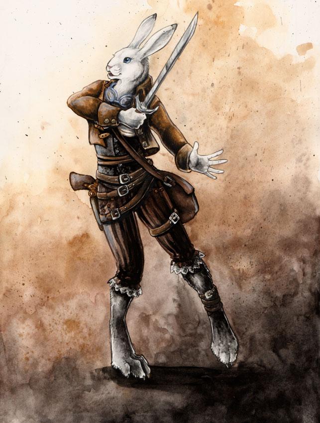 Steampunk Hare by nelena