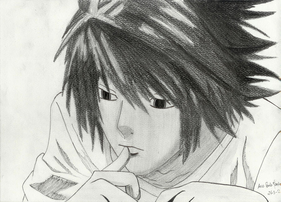 Death Note Drawi...L Death Note Drawing