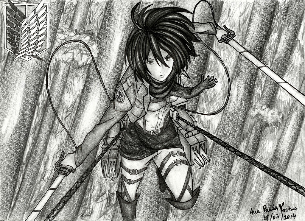Attack on titan mikasa by mangaslover