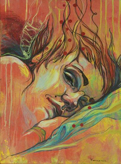 Self-Portrait in a dream by Tya-tyan