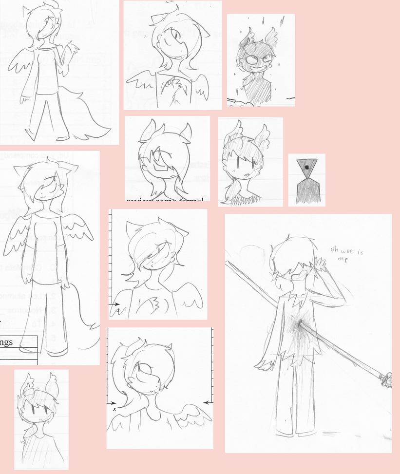 School Doodles by PrincessMcHi